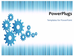 PowerPoint Template - An industrial background